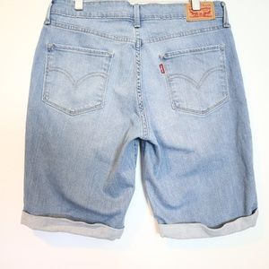 Levis Unisex Rolled Cuff Blue Jean Shorts 30